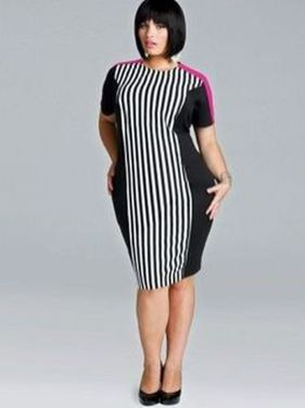 Amazing plus size striped dress outfits ideas 19