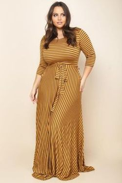 Amazing plus size striped dress outfits ideas 20