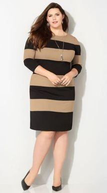 Amazing plus size striped dress outfits ideas 27