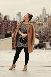 Amazing plus size striped dress outfits ideas 3