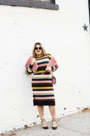 Amazing plus size striped dress outfits ideas 35