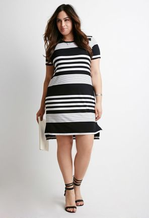 Amazing plus size striped dress outfits ideas 38