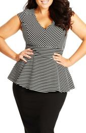 Amazing plus size striped dress outfits ideas 4