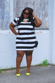 Amazing plus size striped dress outfits ideas 40