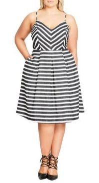 Amazing plus size striped dress outfits ideas 44