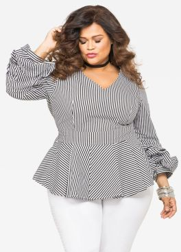 Amazing plus size striped dress outfits ideas 45
