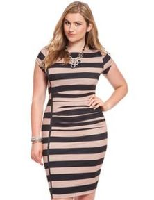 Amazing plus size striped dress outfits ideas 47