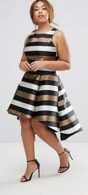 Amazing plus size striped dress outfits ideas 5