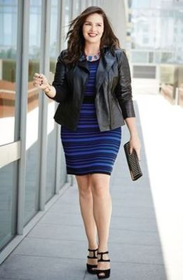 Amazing plus size striped dress outfits ideas 7