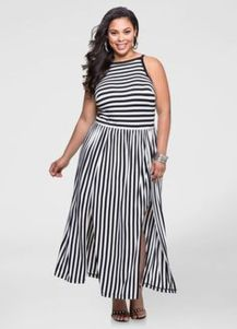 Amazing plus size striped dress outfits ideas 74