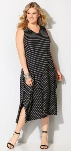 Amazing plus size striped dress outfits ideas 75