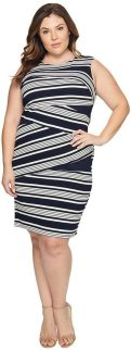 Amazing plus size striped dress outfits ideas 81
