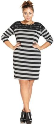Amazing plus size striped dress outfits ideas 85