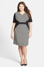 Amazing plus size striped dress outfits ideas 9