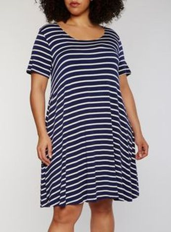 Amazing plus size striped dress outfits ideas 90