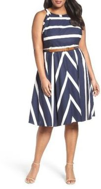 Amazing plus size striped dress outfits ideas 97