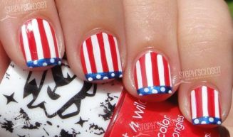 Awesome american flag nail art 12
