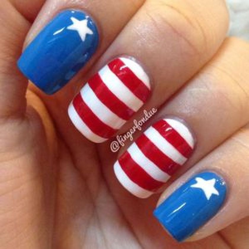 Awesome american flag nail art 15