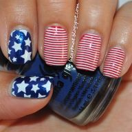 Awesome american flag nail art 8