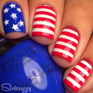 Awesome american flag nail art 9