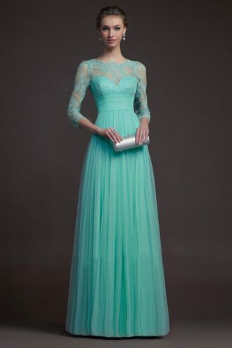 Awesome elegance turquoise bridesmaid dress 10