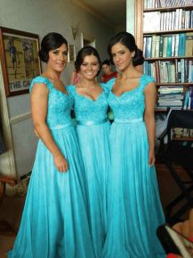 Awesome elegance turquoise bridesmaid dress 32