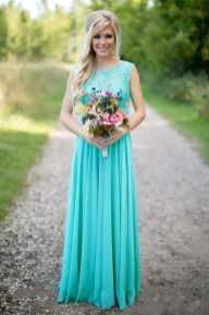 Awesome elegance turquoise bridesmaid dress 33