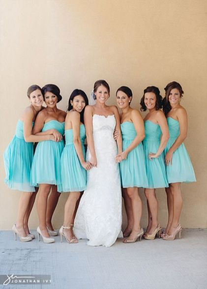 Awesome elegance turquoise bridesmaid dress 48