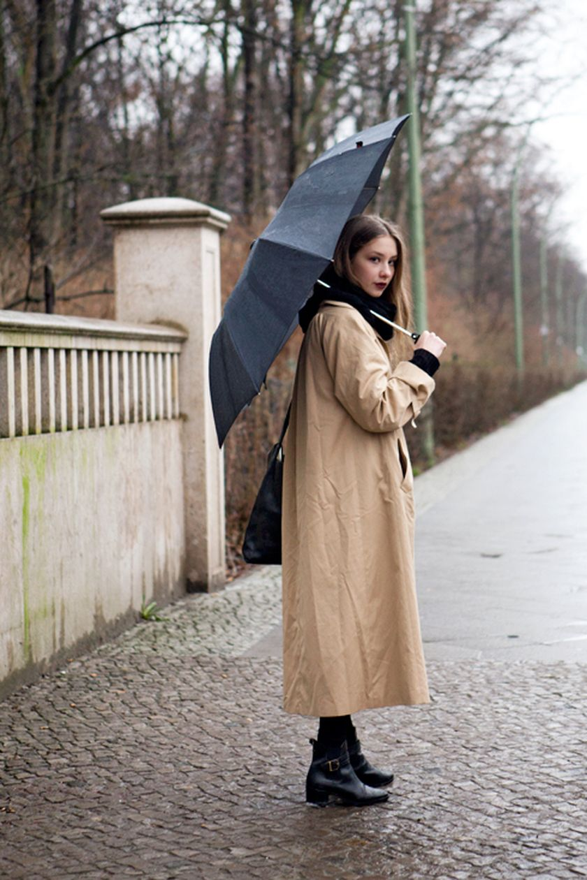 Awesome rainy day outfit style 35