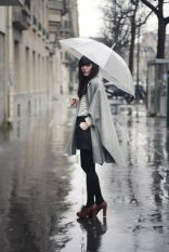 Awesome rainy day outfit style 37
