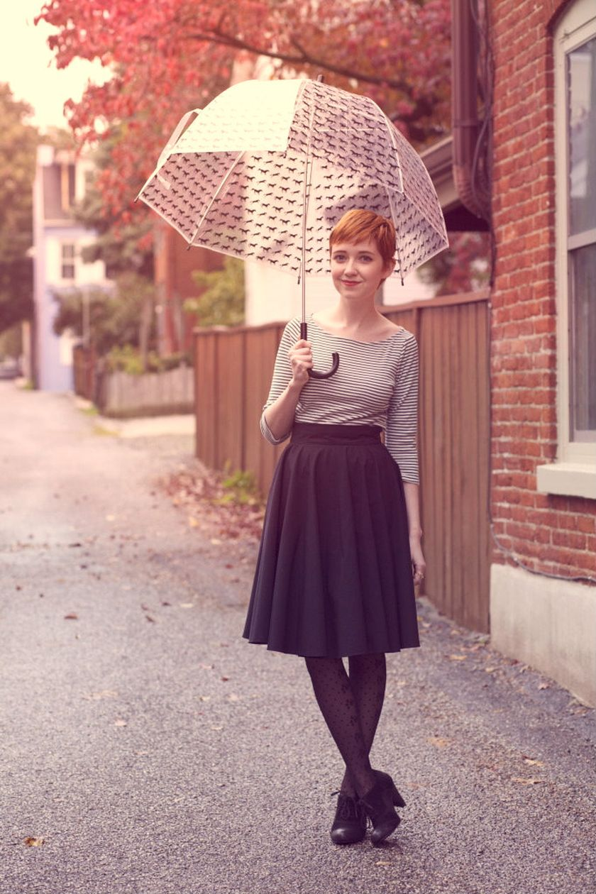 Awesome rainy day outfit style 40