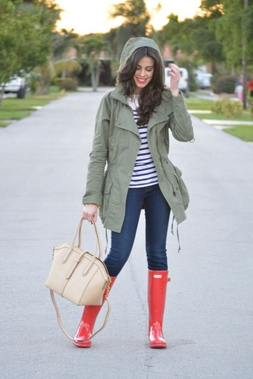 Awesome rainy day outfit style 6