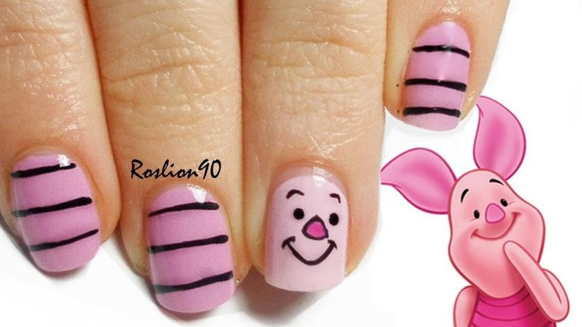 Cute Pig Nail Art Designs : Cute nail art for kids girl fashion best