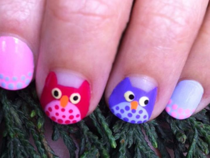 Cute nail art for kids girl #
