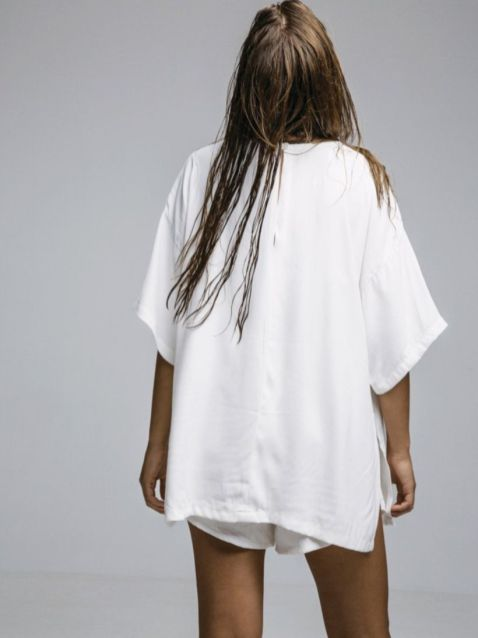 Cute oversized t shirt outfit styles 19