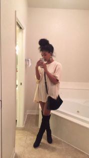 Cute oversized t shirt outfit styles 37