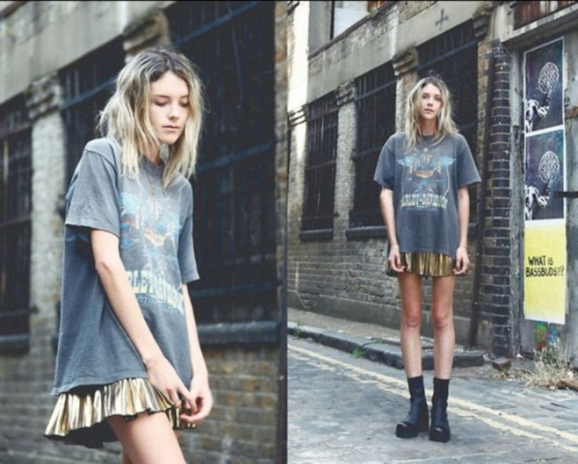 Cute oversized t shirt outfit styles 6