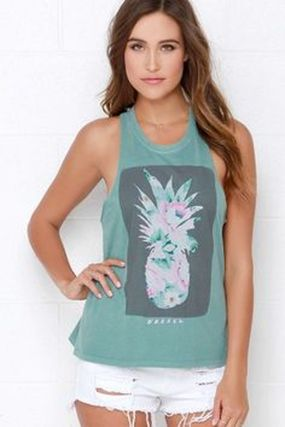 Cute pineapple tank top must you have 2