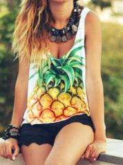 Cute pineapple tank top must you have 52