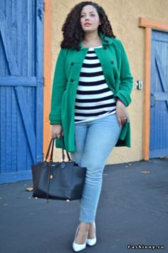 Fabulous plus size striped shirt outfits 16