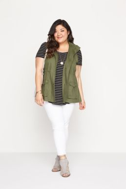Fabulous plus size striped shirt outfits 44