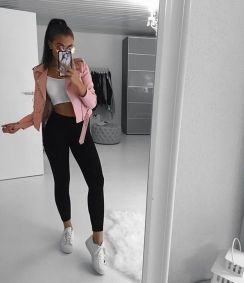How to wear white sneaker for spring outfits 139