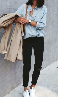 How to wear white sneaker for spring outfits 144