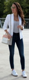 How to wear white sneaker for spring outfits 145