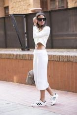 How to wear white sneaker for spring outfits 157