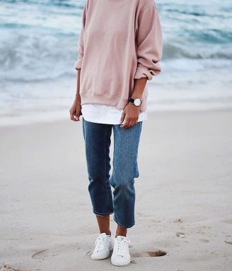 How to wear white sneaker for spring outfits 161