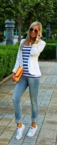 How to wear white sneaker for spring outfits 36