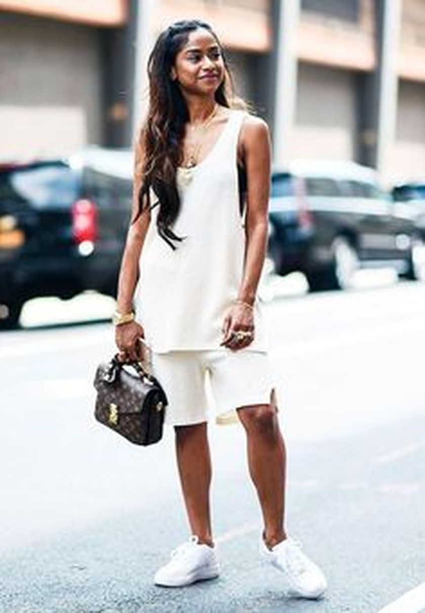 How to wear white sneaker for spring outfits 97