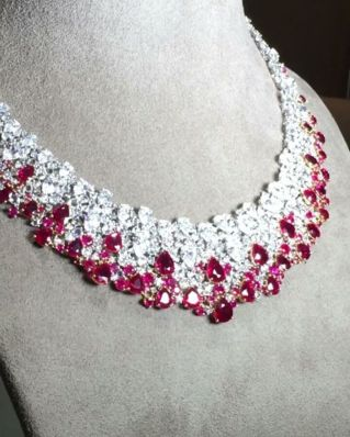 Magnificent burmese ruby and diamond necklace 11