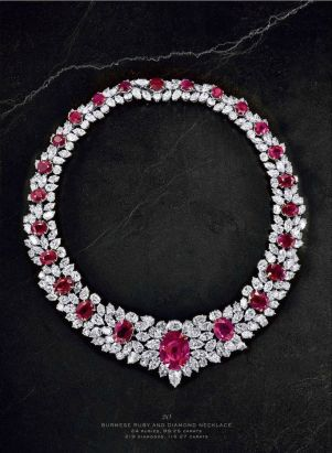 Magnificent burmese ruby and diamond necklace 14